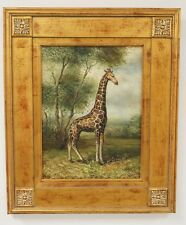 OIL PAINTING ON CANVAS OF A GIRAFFE. SIGNED *TAYLOR* LOWER RIGHT. 11... Lot 1136