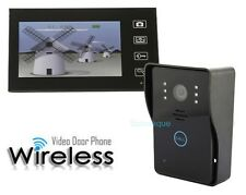 "Video Door Phone Wireless 7"" Intercom Doorbell Home Camera Monitor Night Vision"