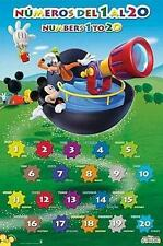 MICKY MAUS & GOOFY MICKEY MOUSE POSTER NUMBEROS DEL 1 AL 20