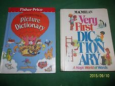 CHILDRENS DICTIONARY (LOT 2..HB) MACMILLIAN VERY FIRST DICTIONARY, PICTURE DICT.