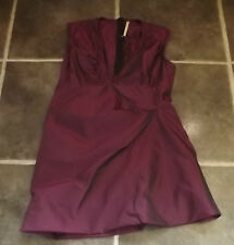 TOPSHOP UK 12 EUR 40 SHINY TWO TONE MAROON COCKTAIL PARTY SHEATH DRESS
