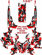 SNOWMOBILE WRAP POLARIS RUSH, PRO, RMK  DECAL 12-15 SNOW CAMO