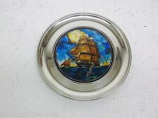 Old Ironsides Stained Glass Jefferson Pewter Plate US Historical Society 1st Edt