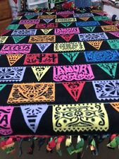 """FLEECE KNOTTED TIED BLANKET-Chili Peppers/Fiesta- Cinco de Mayo-Approx 72"""" x 60"""""""