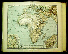 1888:SYDOW-WAGNER Atlas=PANORAMA GENERALE FISICO DELL'AFRICA.MADAGASCAR..R