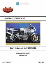 Moto Guzzi parts manual book 1994, 1995 & 1996 Sport Carburatori 1100