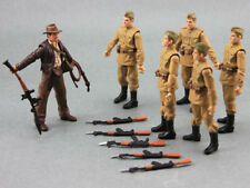 Boys Baby Toys 5x Russian Soldiers Troopers & 1x Indiana Jones Action Figure M9