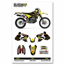 2000-2014 SUZUKI DRZ 400 Team Rockstar Motocross Graphics Dirt bike Graphic kit