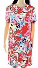 WAYF NEW Red Womens Size XL Printed Keyhole-Back Shift Dress $58 617 DEAL