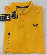 Under Armour MEN'S Athletic Golf Polo Loose Yellow Size L