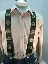 """New, Men's, U.S. Army, XL, 2"""", Adj.  Suspenders / Braces, Made in the USA"""