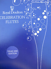 ROYAL DOULTON CRYSTAL CHAMPAGNE FLUTES *2000 CELEBRATION EDITION**BRAND NEW