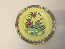 Vintage Crown Staffordshire Porcelain Rare Rock Bird Patten w/ Yellow Background