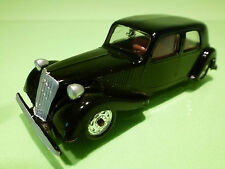 MINIALUXE  CITROEN 11CV TRACTION AVANT - BLACK 1:43 - RARE SELTEN  - VERY GOOD