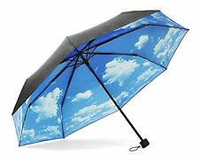ColorDrip Unisex Adults Blue Sky White Clouds Folding Travel Umbrella