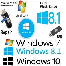 Windows 7- 8.1-10 x32Bit & x64Bit Operating System Install USB BOOTABLE Drive