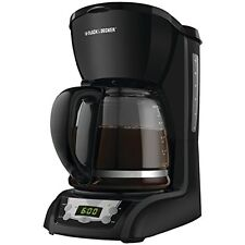 Black Coffee Machines Decker DLX1050B 12-Cup Programmable Coffeemaker with Glass