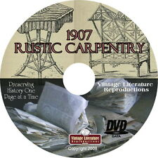 1907 Rustic Outdoor Furniture Carpentry Book { Cabin and Cottage Decor } on DVD