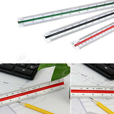 300mm 1:150 1:200 1:250 Triangular Metric Scale Ruler For Engineer Multicolor