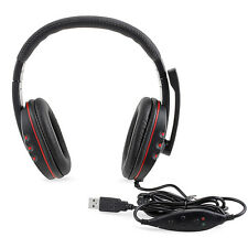 Gaming Auriculares de Cuero Casco Headset con Micrófono para PS3 Playstation 3