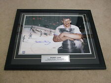 BOBBY ORR~THE GOAL~16 x 20  PROFESSIONALLY DOUBLE MATTED & FRAMED TAKE A L@@K!!!