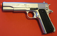 Quality Heavy Weight Metal Barrel 1911 Style Airsoft Spring Pistol Silver Color