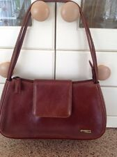 LOVELY VISCONTI BROWN LEATHER SHOULDER BAG USED SIGNS OF USE