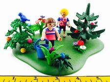 PLAYMOBIL~Custom~Children~Easter Egg Hunt~Base~Tree~Bush~Flower~Pail~Bunny~EPC23