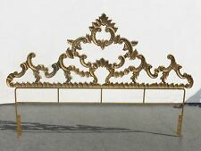 Vintage Rococo Baroque FRENCH PROVINCIAL Gold Gilt King HEADBOARD Cast Iron