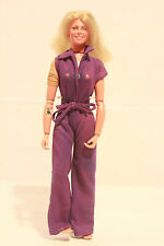 Vintage Kenner 1974 Bionic Woman Jaime Sommers Figure w/ Purple Outfit (#00427)