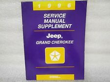 1996 SERVICE MANUAL SUPPLEMENT JEEP GRAND CHEROKEE 81-370-6147A