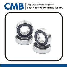 "4pcs R6-2RS Rubber Sealed Ball Bearing R6 2rs Bearing 3/8"" x 7/8"" x 9/32"" inch"
