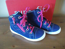 Girls SUPERFIT 106 Blue SUEDE Lace/Zip ANKLE BOOT UK 7.5 Eur 25 NEW!