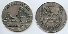 GY847 - Medaille Golden Gate Bridge Weltwunder Amerikas 1982 Ettringen