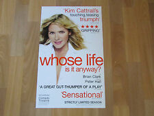 Kim CATTRALL Whose Life is it Anyway COMEDY Theatre Original Poster