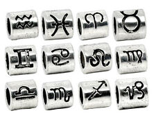 72 Mixed Zodiac Spacer Beads Fit Charm Bracelet