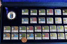 EXTRA RARE Nanjing 2014 Youth Olympic Games Ukraine VIP 30 pin set and medal box