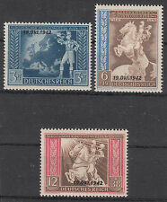 Deutsches reich 1942 post-u. fernmeldeverein Michel-Nº: 823-825 ** (ry25)