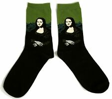 MENS / LADIES MONA LISA LEONARDO DA VINCI STUNNING SOCKS UK SIZE 6-8