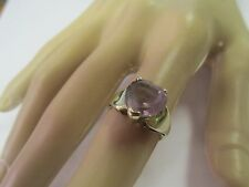 Nice 10k Ring With Light Purple Heart Stone Size 6.5