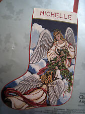 Holiday Candamar Needlepoint Stocking Craft Kit,CHRISTMAS ANGELS,30600,Size 17""