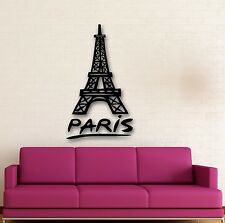 Wall Stickers Vinyl Decal Paris France Eiffel Tower Romantic Travel (ig670)