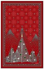 BEAUVILLE, FORET (FOREST) RED CHRISTMAS / HOLIDAY FRENCH KITCHEN / TEA TOWEL