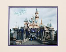 DISNEYLAND CASTLE 45TH ANNIV. PHOTO SIGNED BY TINKERBELL MODEL-MARGARET KERRY