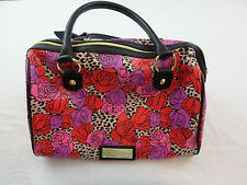 NEW BETSEY JOHNSON Handbag Purse AUTHENTIC Tote Black Bow Rose Flowers