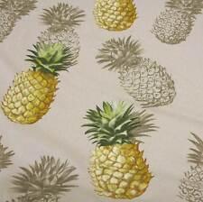 Stoff Meterware Baumwolle natur Ananas gelb aus Frankreich Neu Deko 2016