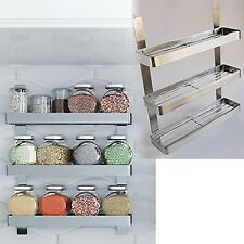 Stainless Steel Kitchen Spice Shelf Rack Kitchen Organizer Wall Mount