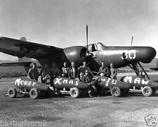 Korea F7F Tigercat being loaded with Christmas Bombs to Adolf  8 x 10 Photograph