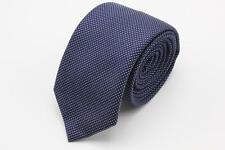 THOMAS PINK Skinny Silk Tie.Blue with Blue Polka Dots.