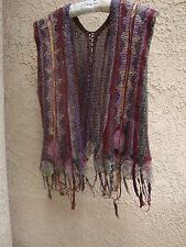 Lietta Cavalli Mali (No Label) Vtg 80's Multi Yarn BOHO Sweater Vest S/M(?)